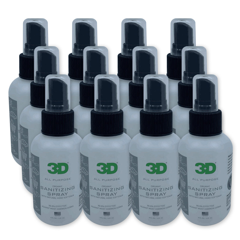 FDA approved, 12 Pack, 3D 924 All Purpose Sanitizing Spray, 4oz, lemon scent, Price/12 Pack Sale, Reviews. - Opentip