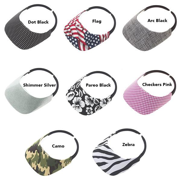 e60e153d Opentip.com: No Headache Original Fabric Visor - Pattern Print