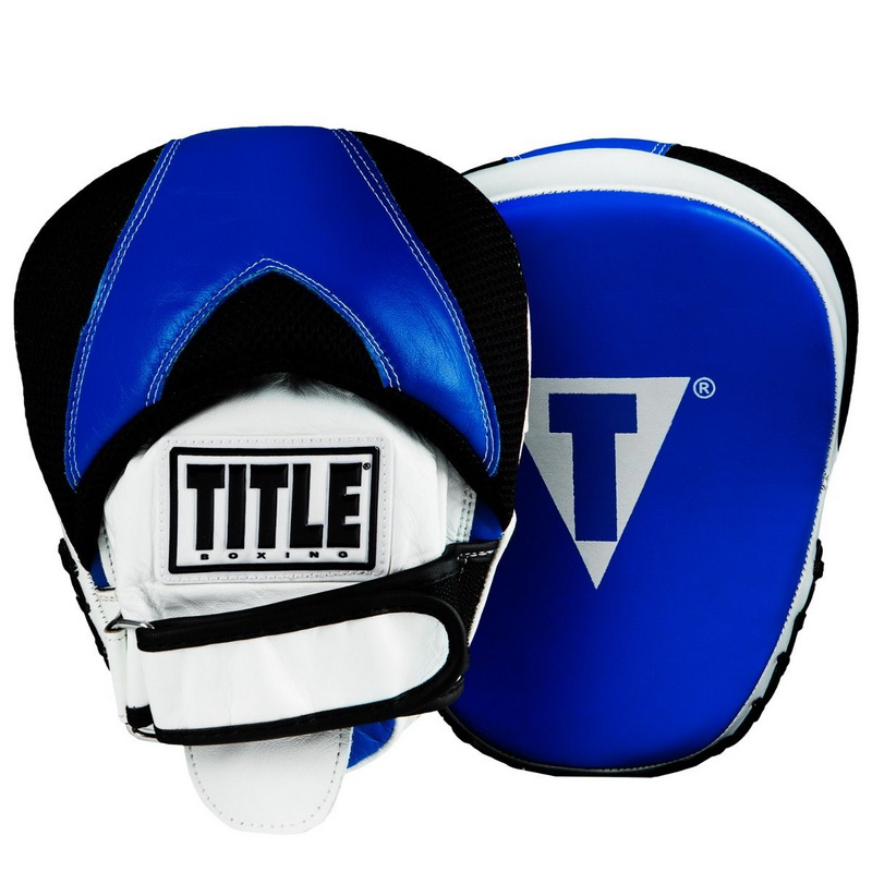 Title Boxing Serpent Strike Aerovent Contoured Leather Punch Mitts Black//Red