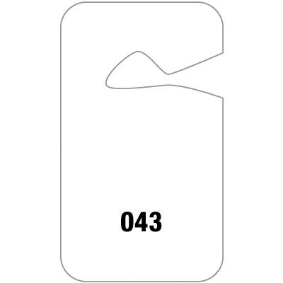 parking permit template Opentip.com: Seton 84762 Blank Hanging Parking Permits, Size: 2-3/4 ...