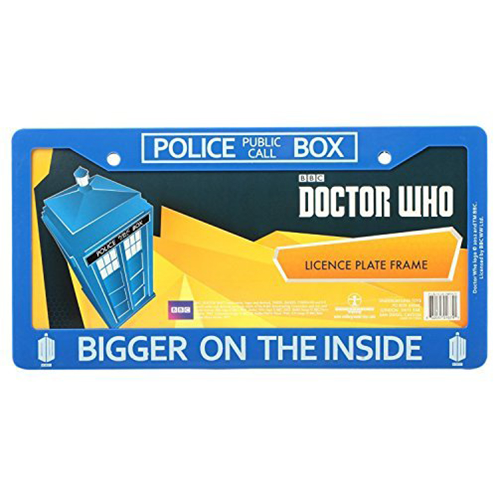 IT/'S BIGGER ON THE INSIDE TARDIS License Plate Frame