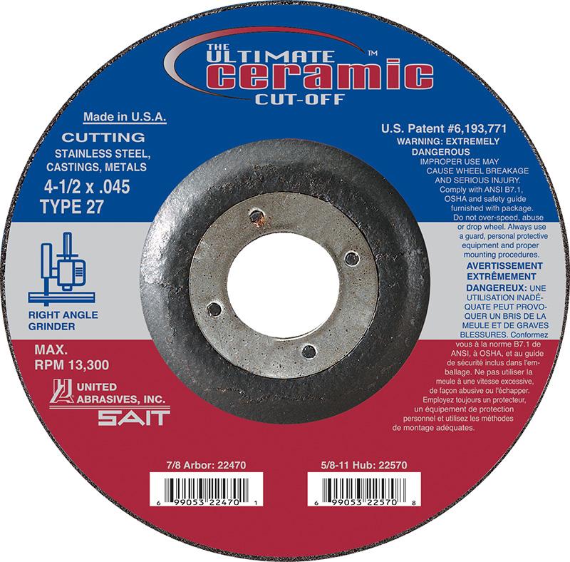 5//8 Arbor Depressed Center Wheel 1//4 in Thick 4 1//2 in Dia Hardness Grade R 86 Pack