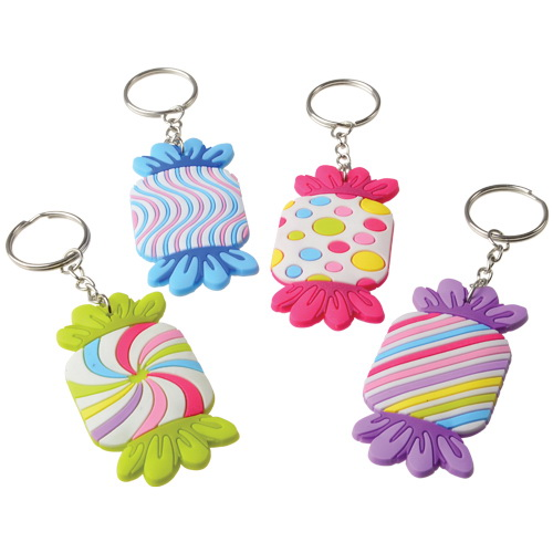 "Toy Dozen Assorted Design Fishing Lure Keychain Rings 3/"" U.S"