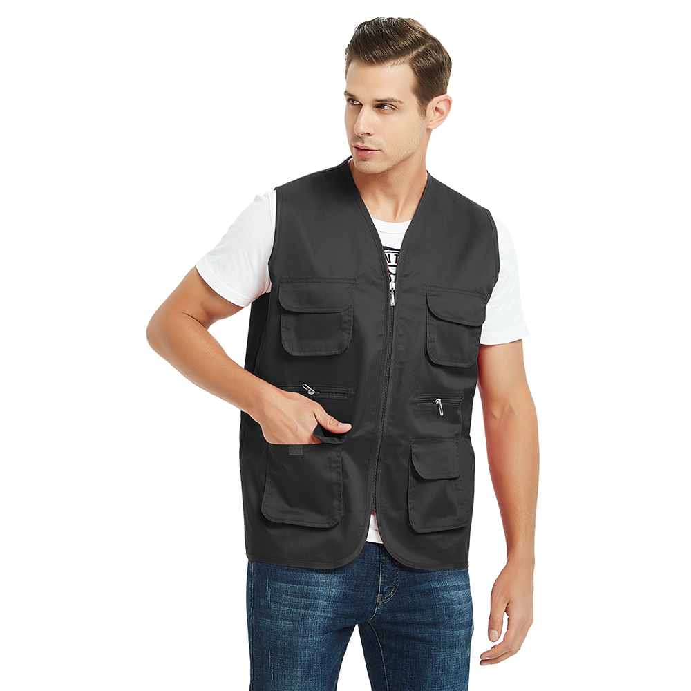 TOPTIE Custom Volunteer Activity Vest with Multi-pocket