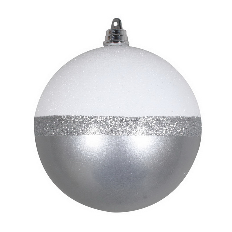 Vickerman Mt180707 4 Silver Candy White Glitter Ball 6 Bg Sale Reviews Opentip