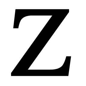 Village Wrought Iron LET Z S Letter Z Small