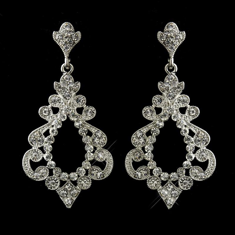 c2e5bb6a9 Opentip.com: Elegance by Carbonneau E-8688-AS-Clear Antique Silver ...