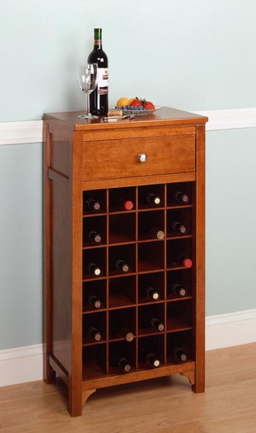 Winsome Wood 25 Bottle Slot Modular Bordeaux Wine Cabinet Winsome