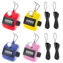TOPTIE 4 Sets Plastic Counter Clickers with Lanyards, Handheld Tally Counter for Sports Event