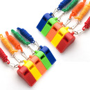 TOPTIE 10 PCS Whistles with Lanyard Colorful Sports Referee Whistle for Lifeguard, Emergency