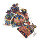 TOPTIE 24pcs Egyptian Ethnic Style Drawstring Jewelry Pouches, Cloth Gift Bags, Muslin Sachet