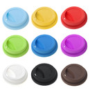 TOPTIE 6 PCS Silicone Cup Lids, Reusable Drink Cup Lid, Universal Coffee Mug Covers