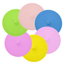 TOPTIE 6 PCS Reusable Silicone Cup Lids, Coffee Mug Covers Sealing Anti-dust Cover