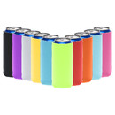 TOPTIE 10 PCS Slim Beer Can Sleeves Beer Can Cooler Covers Fit for 12oz Slim Energy Drink Beer Cans
