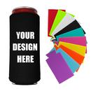 Custom 10 PCS Slim Beer Can Cooler Slim Can Sleeves Beer Bottle Holder Fit for 12oz Slim Cans