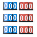GOGO Set of 6 3-digital Desktop Scoreboards, Great for Multi Sports