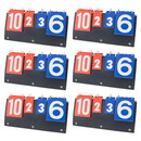 GOGO 6-Pack Desk Top Scoreboards, Multi Sports Scorekeeper