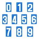GOGO Number Score Cards, Set of 0-9, 3-1/8