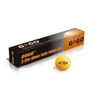 GOGO 72 Pieces 3-Star Orange Ping Pong Balls Premium Table Tennis Balls (12 Tubes)