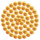 GOGO 60 Pieces 40mm Ping Pong Balls 3-Star Training Table Tennis Ball Orange (10 Tubes)