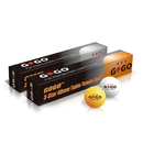 GOGO 12 Pieces 3-Star Orange Ping Pong balls Professional (2 Tubes)