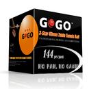 GOGO 144 Pieces 3-Star Ping Pong Balls Premium 40mm Seamless Table Tennis Balls
