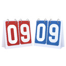 GOGO 2 Sets Portable Flip Scoreboard for Multi Sports Count from 00 to 99