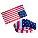 Stars and Stripes Outdoor Multifunctional Seamless Mask Bandanas, 9 1/2