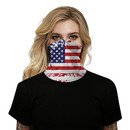 Opromo US Flag Face Cover Dustproof Mesh Neck Gaiter Balaclava Tube Hat Breathable American Flag