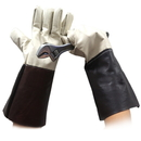 "Premium Leather Gauntlet Welding Gloves with Flexible Fingers Design, 7""W x 14 1/2""L"