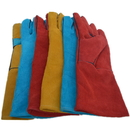 "Leather Long Sleeves Heavy Duty Work Gloves Welding Prevention Gauntlet, 5 1/2""W x 13 4/5""L"