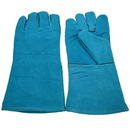 "Opromo Leather Heavy Duty Work Gloves Welding Prevention Gauntlet, 5 1/2""W x 13 4/5""L"