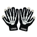 Custom Stylish Boys Stretch Touch Screen Gloves Skeleton Winter Texting Gloves, 4 4/5