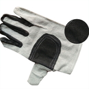 "White Canvas Safety Welder Work Gloves with Brown Leather Palm, 4 4/5""W x 9 4/5""H"