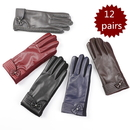 Opromo Women's Touchscreen Gloves Texting Driving Winter Warm PU Leather Gloves