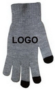 Custom Smartouch Knitted Texting Gloves, Soft Cashmere Warm Texting Gloves, 7 4/5