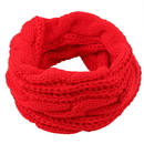 Opromo Winter Soft Warm Thick Koreaon Style Circle Loop Ribbed Knit Cable Scarf, 23 5/8