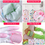 Opromo 8PCS Household Cleaning Gloves Waterproof Reuseable Rubber Kitchen Glove Long Sleeve Dishwashing Gloves, Price/pair