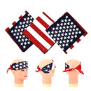 100% Cotton National Flag Bandanas Flag Kerchief Neck Wrap Unisex Cowboy Headband Accessories, 22 x 22 inch