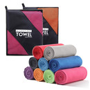 Opromo Microfiber Towel Sport Travel Cooling Fast Drying Towel, Ultra Compact Absorbent for Camping, Swimming, Yoga, Gym, Beach