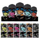 Seamless Neck Gaiter Camo Bandana Face Mask Balaclava Tube Hat for Dust Outdoors, 10