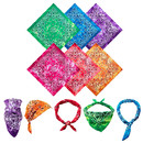 Tie-dyed 100% Cotton Novelty Gradient Paisley Bandana Classic Paisley Handkerchief, 22