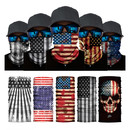 TOPTIE Seamless US Flag Neck Gaiter Tube Dustproof Cover Motorcycle Face Scarf for Dust Outdoor