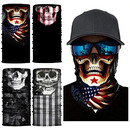 Opromo Seamless Skull Neck Gaiter Face Scarf Tube Sweat Absorb for Motorcycle Outdoor