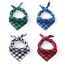 Opromo Plaid Printing Pet Kerchief, Triangle Bibs Cotton Scarf Neck Gaiter Accessories Adjustable Washable Pet Kerchief