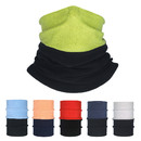 Opromo Autumn & Winter Color Contrast Fleece Neck Warmer Cycling Ski Motorcycle Cold Multifunctional Warm Face Cover, 12