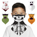 Opromo Kid Halloween Ear Loops Face Scarf, Outdoor Face Cover, Lightweight Scarf, Breathable Neck Gaiter