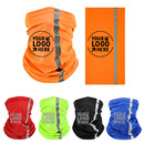 Custom Visibility Reflective Safety Neck Gaiter Breathable Face Cover Sun Protection Face Scarf
