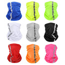 Opromo Seam Neck Gaiter Visibility Reflective Safety Bandana Sun Protection Face Scarf