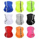 Opromo Seam Neck Gaiter Visibility Reflective Safety Bandana Sun Protection Face Scarf